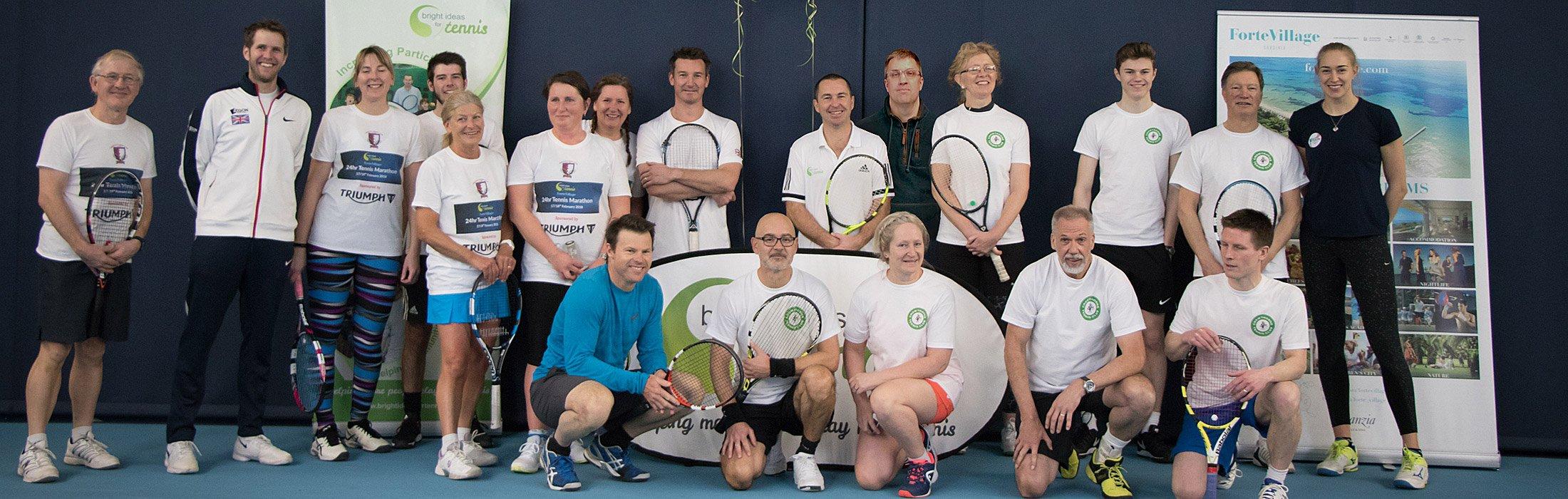 Crowthorne Tennis Club 24hr Tennis Marathon team