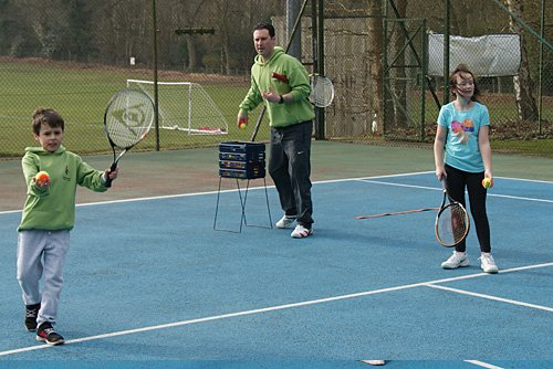 Crowthorne Tennis Club offers regular junior coaching sessions