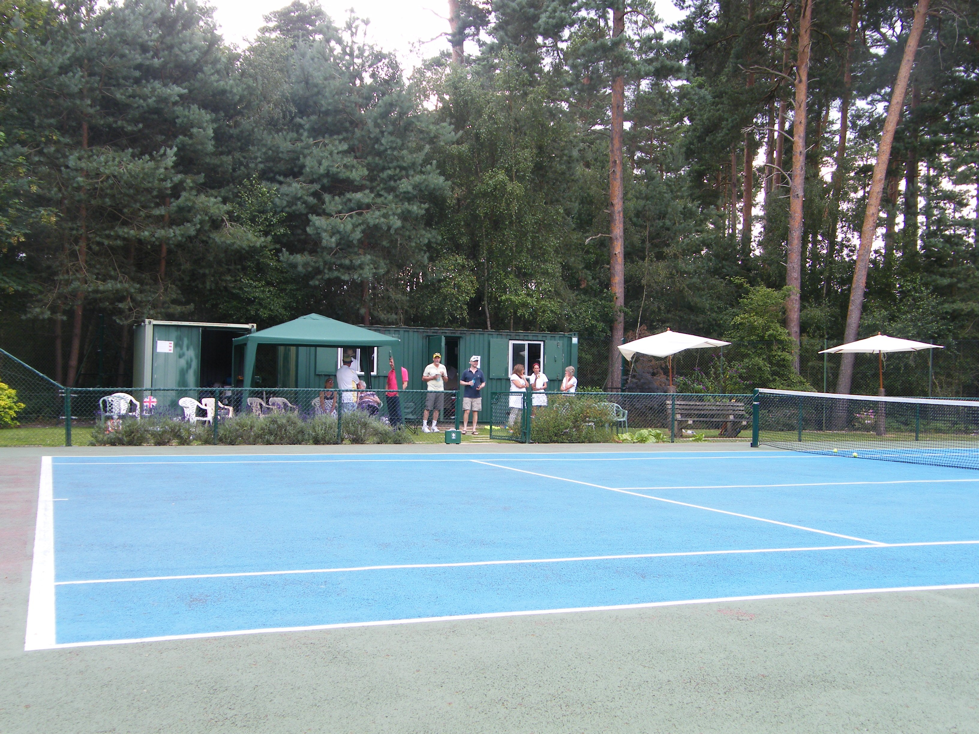 The members setting up a Crowthorne Tennis Club Open Day
