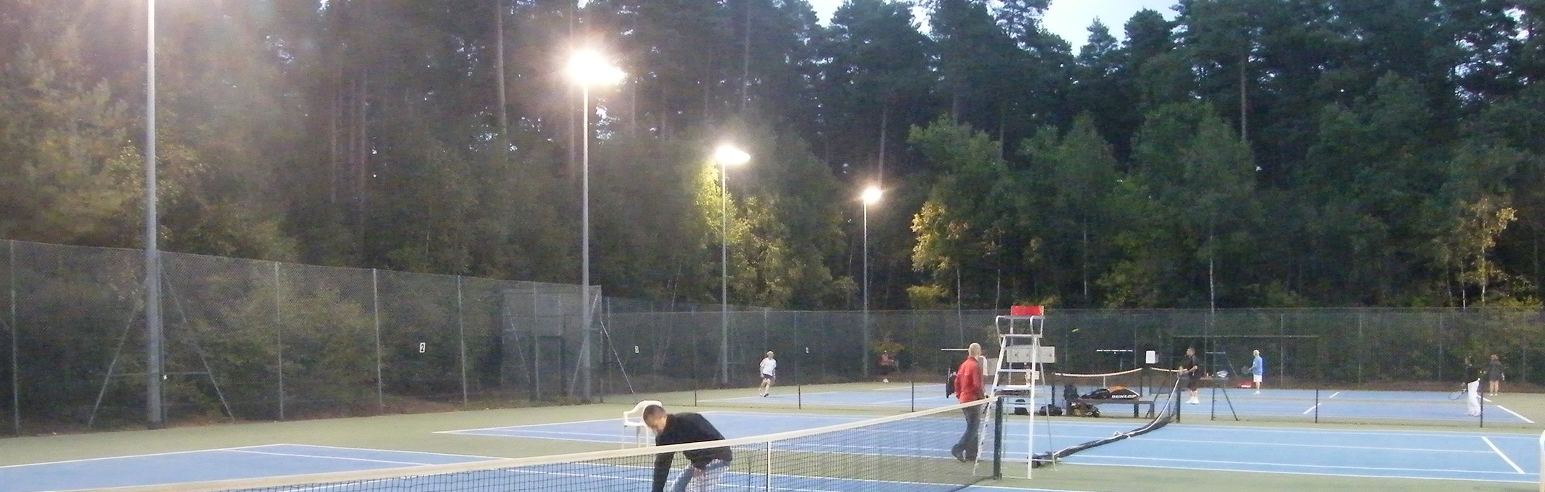 Finals Day at Crowthorne Tennis Club's four floodlit all-weather courts